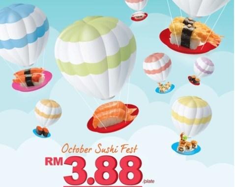 Sakae Sushi Fest RM3.88 each plate 每碟寿司只要RM3.88