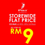 POLO Warehouse Sale: Price from only RM9 清仓大减价:价钱从RM9起!