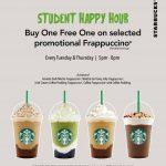 Starbucks Buy 1 FREE 1 Promotion 星巴克买一送一促销!