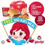 Wendy's Kids Meal Giveaway 请你吃免费儿童套餐!