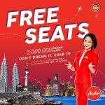 AirAsia FREE Seat Promo: 5 Millions Promo Seat for Grab 亚航免费机位促销!