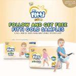 Fitti Gold Diaper Sample Giveaway 寄出免费纸尿片sample,到你家!
