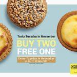 Hokkaido Baked Cheese Tart Buy 2 FREE 1 Promo 半熟起司挞买二送一促销!