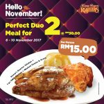 Kenny Rogers ROASTERS Meal at only RM15 Each 烤鸡餐只要RM15促销!