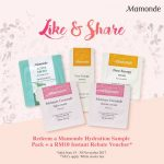 Mamonde Hydration Sample Pack Giveaway 送出免费保湿试用装!