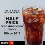 McCafe Iced Americano at 50% Discount 黑咖啡50%折扣!