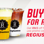 Regiustea for only RM4 Promo  正宗芝士冷泡茶只要RM4促销!