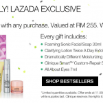 Clinique Gift worth RM255 Giveaway 送出赠品价值RM255!