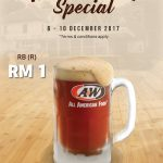 A&W Root Beer at only RM1 Promo 一令吉促销!