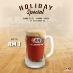 A&W Root Beer at only RM1 Promotion 一令吉促销!