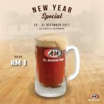 A&W Root Beer at only RM1 Promo at ALL Outlets 一令吉促销,所有分行都有哦!