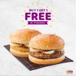 A&W Burger Buy 1 FREE 1 Promotion 汉堡买一送一促销!