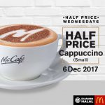 McDonald's Cappuccino @ 50% Discount at ALL Outlets卡布基诺半价促销,所有分行都有哦