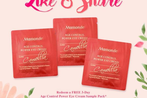 Mamonde Age Control Power Eye Cream Sample Giveaway 送出免费眼部护肤霜!