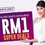 Malindo Air RM1 Super Deals 指定机位只要RM1促销!