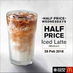 McCafe Iced Latte 50% Off Promo 冰拿铁50%折扣!