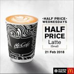 McCafe Latte Half Price Promotion 拿铁半价促销!