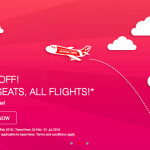AirAsia 20% Off for ALL Seats, ALL Flights 所有机位折扣20%!