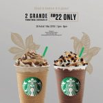 Starbucks Grande Beverage at RM11 only 星巴克饮料只要RM11促销!