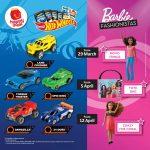 McDonald's Happy Meal Hot Wheels Series andBarbie Fashionistas Collections Giveaway 麦丹劳免费玩具!