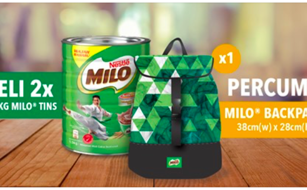 FREE Milo Backpack Giveaway 送出免费背包!