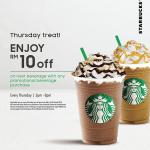 Starbucks Beverage RM10 Off 星巴克饮料额外折扣RM10!
