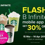 Starbucks Beverage @ 30% Off Promo 星巴克饮料额外30%折扣!
