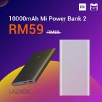 10,000mAh Mi Power Bank 2 @ RM59 Promo 小米POWER BANK促销!