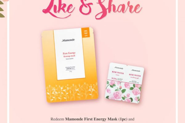 Mamonde First Energy Mask + Summer Rose Water Toner & Soothing Gel Giveaway 送出免费护肤品sample!