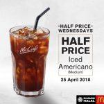 McCafe Iced Americano 50% Off Promo 咖啡半价促销!