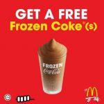 McDonald's Frozen Coke Giveaway 请你喝免费可乐冰沙!