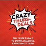 AirAsia Jaipur, Maldives, Kaohsiung, Taipei Buy 1 FREE 1 Deal 飞往马尔代夫,台北,高雄,买一送一!