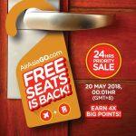 AirAsiaGo FREE Seat Promotion 亚航免费机位促销!