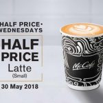 McCafe Hot Latte Half Price Promo 热拿铁半价促销!