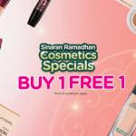 Watsons Cosmetics Buy 1 FREE 1 Promo 化妆品买一送一促销!