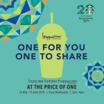 Starbucks Summer Frappuccino Buy 1 FREE 1 Promo 星巴克饮料买一送一促销!