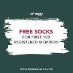 Ador Socks Giveaway 送出免费袜子!