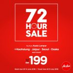 AirAisa 72 Hour Sale: Fly to Kaohsiung, Jaipur, Seoul, Osaka from only RM199 机位从RM199起!