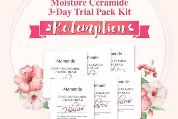 Mamonde Moisture Ceramide Intense Cream Sample Giveaway 送出免费保湿护肤品Sample!