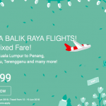 AirAsia Extra Balik Raya Flights from RM99 机位从RM99起!