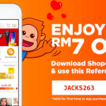 Shopee RM7 Off For Your First Order 给你额外RM7折扣码!