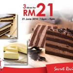 Secret Recipe Cake for only RM7 Promo 一片蛋糕只要RM7促销!
