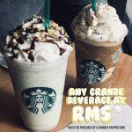Starbucks ANY Grande Beverage at RM5 Promo 任何饮料RM5促销!