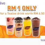 Tealive Drink for only RM1 Promo 茶饮只要RM1促销!