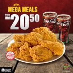 Texas Chicken 5pcs Chicken + 2 Drinks @ RM20.50 Promo 五片炸鸡+两杯饮料只要RM20.50!