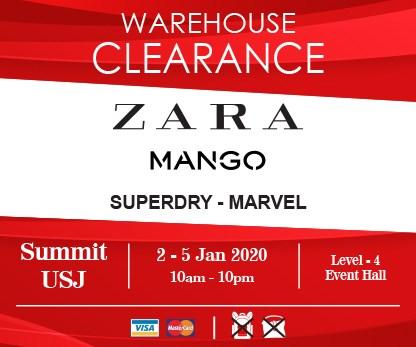 ZARA, MANGO, Superdry, Marvel Warehouse Clearance Sale 清仓大减价!